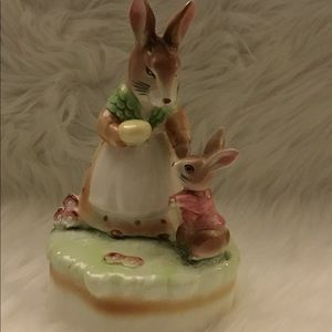 Lefton Music Box Mother & Baby Bunny